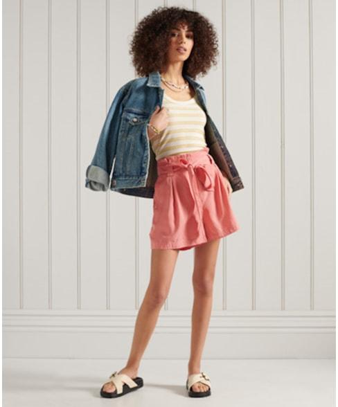 W7110064A   Superdry Desert Paper Bag shorts