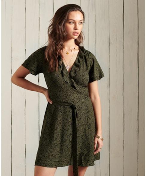 W8010287A | ORIGINAL & VINTAGE Wrap Dress