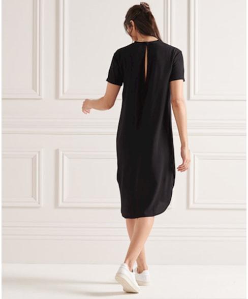 W8010684A | Curve Hem Shift jurk