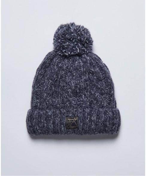 W9010135A   Kabelbeanie van tweed