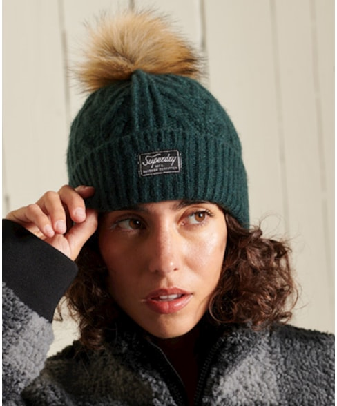W9010139A   Luxe kabelbeanie