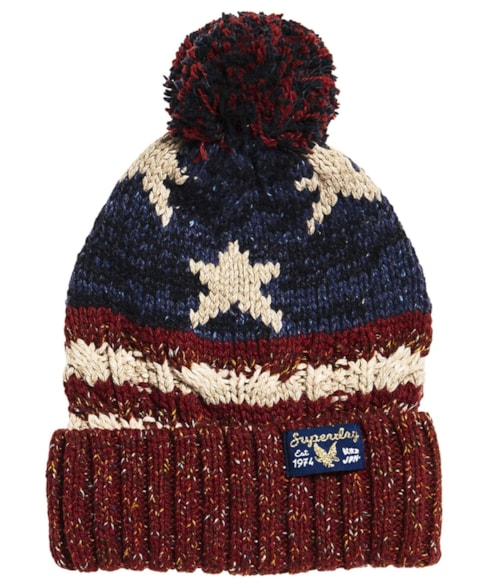 G90002PR | Superdry Americana Cable Beanie