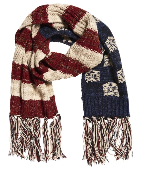 G90003PR | Superdry Americana Cable Knit Scarf