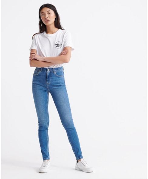W7010146A   Skinny jeans met hoge taille