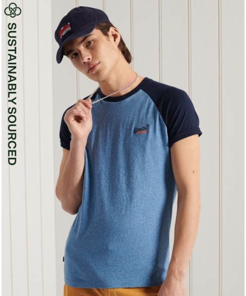 M1010864A | Superdry Orange Label Baseball T-shirt